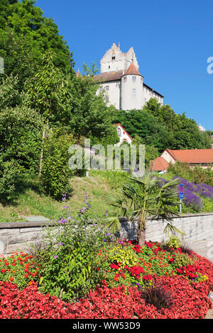 Old castle, Meersburg, Lake Constance, Baden-Wuerttemberg, Germany - Stock Photo