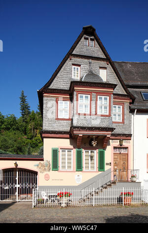 Half-timbered house in the old town, Bacharach on the Rhine, Unesco world heritage Upper Middle Rhine Valley, Rhineland-Palatinate, Germany, Europe - Stock Photo