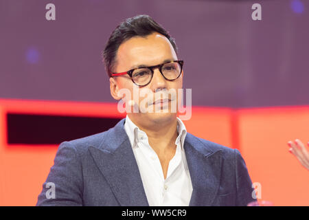 Cologne, Germany, 12.09.2019, DMEXCO digital marketing expo and conference: Ben Aung, CISO with SAGE. - Stock Photo