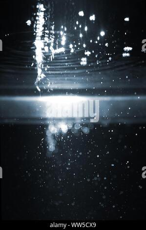 Photography of illuminated water bubbles, - Stock Photo