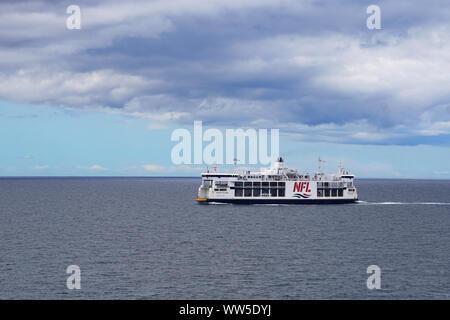 Northumberland Ferry Ltd (NFL) crossing from Nova Scotia to Prince Edward Island, Canada - Stock Photo