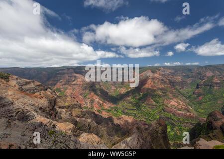 Mountain landscape in the inland, Kauai, Hawaii, USA - Stock Photo