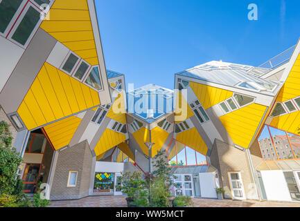 Rotterdam, Netherlands - May 13, 2019: Cube House landmark in Rotterdam, Netherlands - Stock Photo