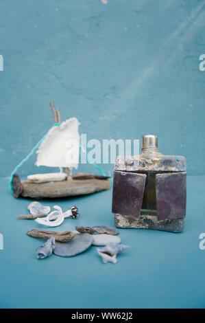 Holiday memory from flotsam - Stock Photo