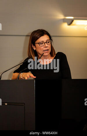 Bologna, Italy. 13 September, 2019. Paola De Micheli, Minister of Transport and Infrastructure, takes part in a meeting about an occupation in Emilia-Romagna on September 13, 2019 in Bologna, Italy. Credit:  Massimiliano Donati/Alamy Live News - Stock Photo