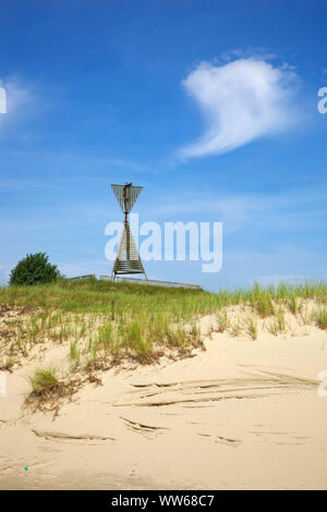 Peilbake on the gull dune in the east part of the island Norderney. - Stock Photo