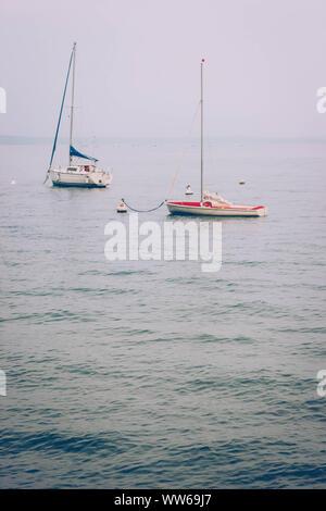 Lake, boats - Stock Photo