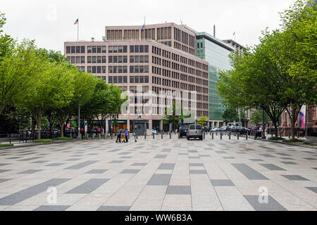 Washington DC, USA - June 9, 2019: A pedestrian street near Lafayette Square near the White House - Stock Photo