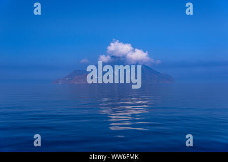 Italy, Sicily, Aeolian Islands, Filicudi, view from a boat - Stock Photo