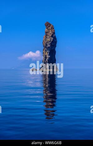 Italy, Sicily, Aeolian Islands, Filicudi, Scoglio La Canna - Stock Photo