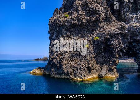 Italy, Sicily, Aeolian Islands, Filicudi, Punta Perciato - Stock Photo