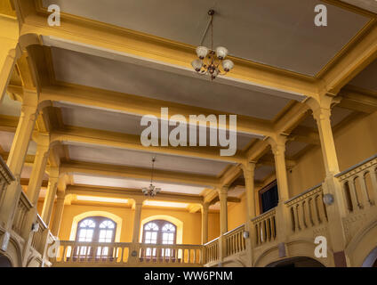 Inside the old opera house bar from the italian colonial times, Central region, Asmara, Eritrea - Stock Photo