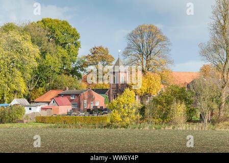 Germany, Lower Saxony, East Frisia, Logumer Vorwerk (district of Emden), - Stock Photo