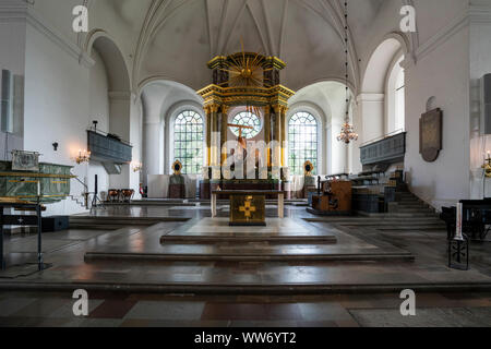 Stockholm, Sweden. September 2019.  the indoor view  of the Katarina church - Stock Photo