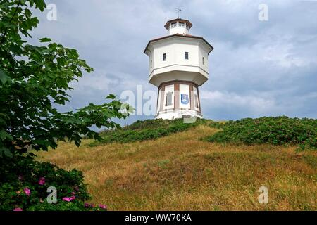 Old water tower, island Langeoog, East Frisian Islands, Lower Saxony, Germany - Stock Photo