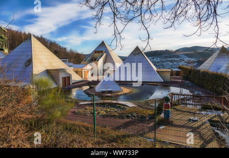 The pyramid park in Lennestadt - Germany - Stock Photo