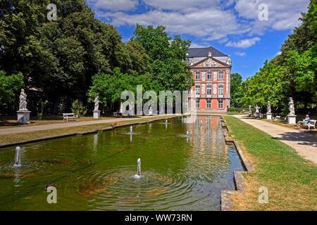 Palace Garden and Electoral Palace, Trier, Rhineland-Palatinate, Germany - Stock Photo