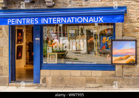 France, Brittany, Finistère Department, Pont-Aven, Gallery - Stock Photo