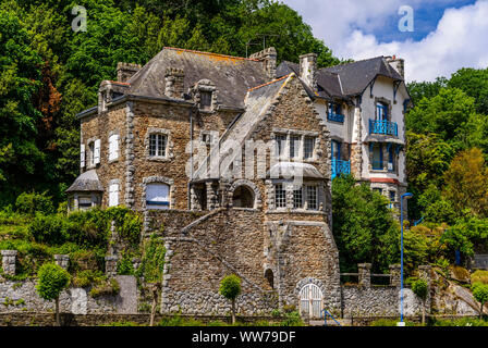 France, Brittany, Finistère Department, Pont-Aven, Villa - Stock Photo
