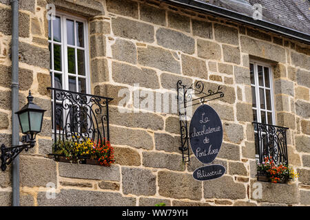 France, Brittany, Finistère Department, Pont-Aven, Patisserie - Stock Photo