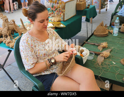 Cracow. Krakow. Poland. Folk Art and Craft Fair on the Main Market Place, center of the Old Town. Annual event. - Stock Photo