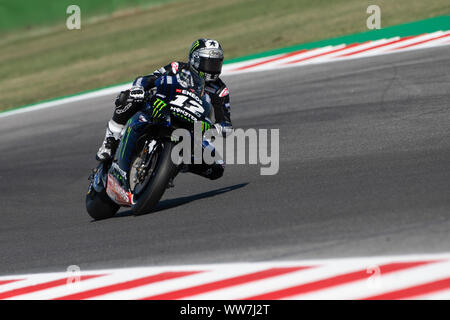 Misano, Italy. 13th Sep, 2019. Maverick Vinales during Friday Free Practices in Misano World Circuit (Photo by Lorenzo Di Cola/Pacific Press) Credit: Pacific Press Agency/Alamy Live News - Stock Photo