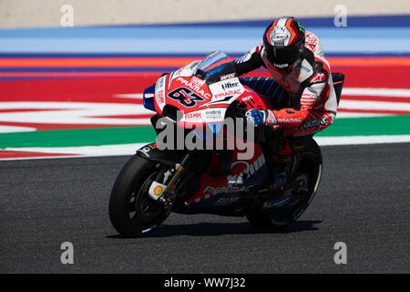 Misano, Italy. 13th Sep, 2019. Francesco Bagnaia during Friday Free Practices in Misano World Circuit (Photo by Lorenzo Di Cola/Pacific Press) Credit: Pacific Press Agency/Alamy Live News - Stock Photo