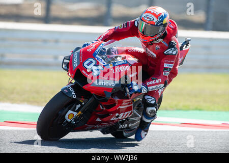 Misano, Italy. 13th Sep, 2019. Andrea Dovizioso on Ducati during Friday Free Practices in Misano World Circuit (Photo by Lorenzo Di Cola/Pacific Press) Credit: Pacific Press Agency/Alamy Live News - Stock Photo