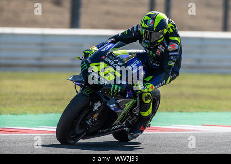 Misano, Italy. 13th Sep, 2019. Valentino Rossi during Friday Free Practices in Misano World Circuit (Photo by Lorenzo Di Cola/Pacific Press) Credit: Pacific Press Agency/Alamy Live News - Stock Photo