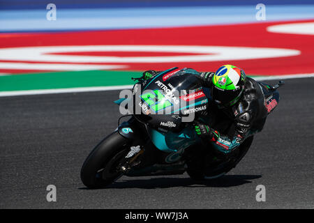 Misano, Italy. 13th Sep, 2019. Fabio Quartararo on Yamaha during Friday Free Practices in Misano World Circuit (Photo by Lorenzo Di Cola/Pacific Press) Credit: Pacific Press Agency/Alamy Live News - Stock Photo
