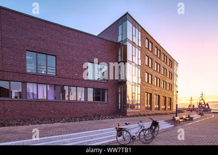 Germany, Wismar, modern building in the old harbour - Stock Photo