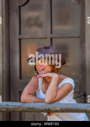 Western style 40s forties woman - Stock Photo