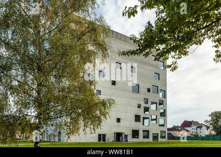 Essen, North Rhine-Westphalia, Germany, Zollverein cube or Sanaa building in Essen Stoppenberg near the Zollverein Coal Mine, - Stock Photo