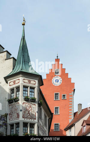 Germany, Baden-Wuerttemberg, Lake Constance, Meersburg, building on the market square - Stock Photo