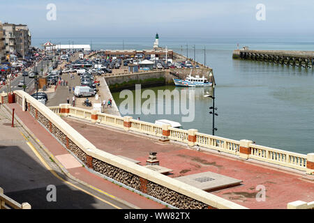 Harbour of Le Treport, Seine-Maritime Normandie, Normandy, France - Stock Photo