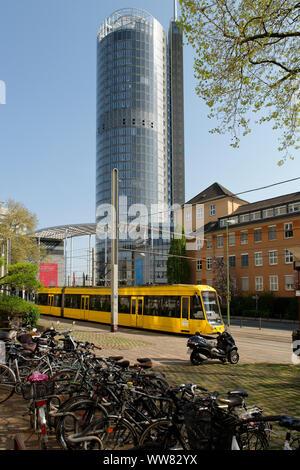 RWE tower, Essen, Südviertel, North Rhine-Westphalia, Germany - Stock Photo