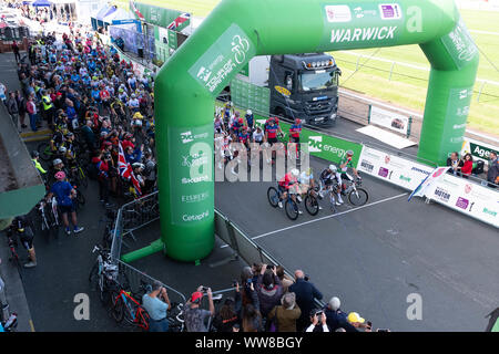 OVO Mens Cycle Tour Britain 2019 - Stock Photo