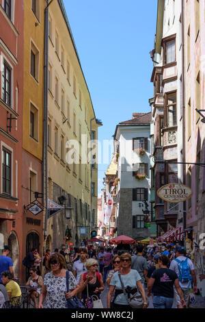 Innsbruck, street Hofgasse, Region Innsbruck, Tyrol, Austria - Stock Photo
