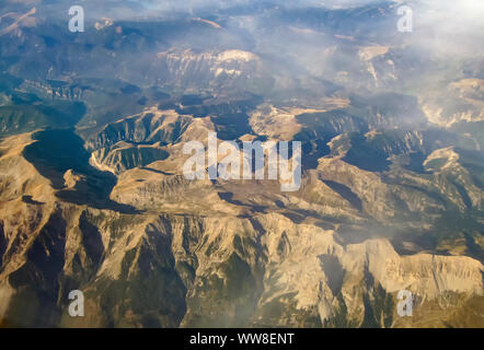 The scenery of Mercantour National Park in Southern France - Stock Photo