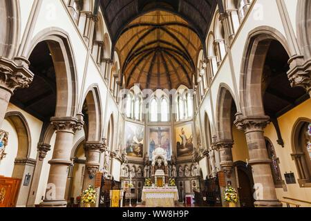 England, North Yorkshire, York, St.Wilfrid's Catholic Church, Interior View - Stock Photo