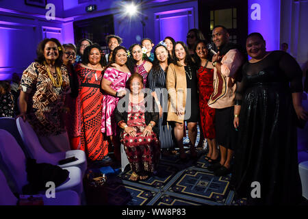 London, UK. 13th Sep, 2019. Guests attend at the London Pacific Fashion Week 2019 at Royal Horseguards Hotel, on 13 September 2019, London, UK. Credit: Picture Capital/Alamy Live News - Stock Photo