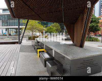 Modern Outdoor Seating Area In The City - Stock Photo