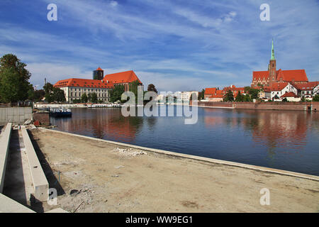 Wroclaw is a beautiful city in Poland - Stock Photo