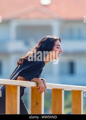 Teen girl is happy - Stock Photo