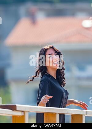 Teen girl is very happy - Stock Photo