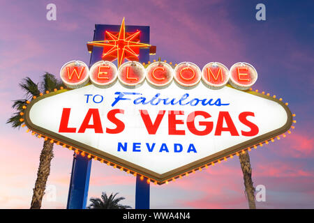 Las Vegas, Nevada, USA at the Welcome to Las Vegas Sign.