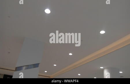 Gypsum False Ceiling Design With Down Lights For An Garments Store At An Shopping Mall Interiors Stock Photo Alamy