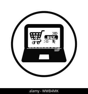 Beautiful design and fully editable Online Shopping Icon, E-Commerce for commercial, print media, web or any type of design projects. - Stock Photo
