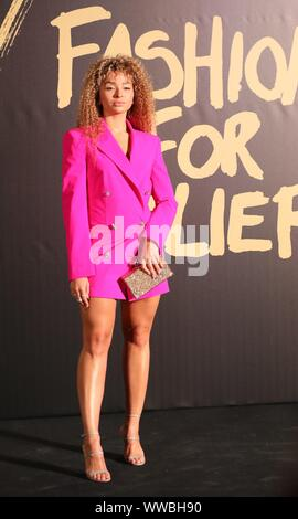 London, UK, 14th Sep 2019, Ella Eyre at Naomi Campbell's Fashion for Relief. Credit: Uwe Deffner / Alamy Live News - Stock Photo
