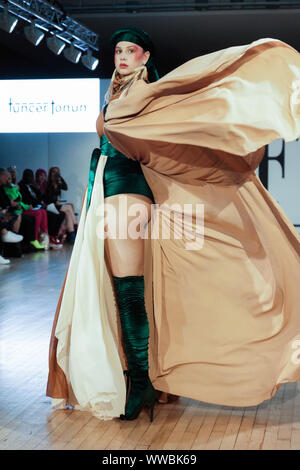 London, UK. 14th Sep, 2019. LFW Off Schedule 20th Season of Fashions Finest. Runway shows, pop up shops and Let's Talk Fashion with Nicky Hambleton-Jones. as well as Prince Harry lookalike Rhys Whittock. Credit: Peter Hogan/Alamy Live News - Stock Photo